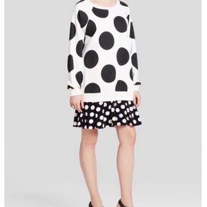 Moschino polka dot sweatshirt dress